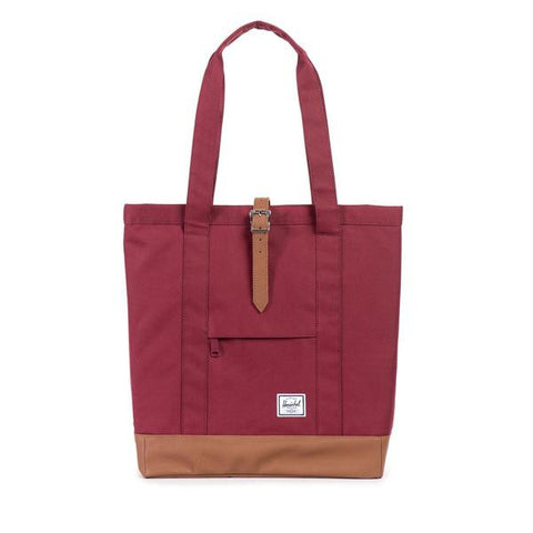 Herschel Market Tote<p>Windsor Wine/Tan Synthetic Leather