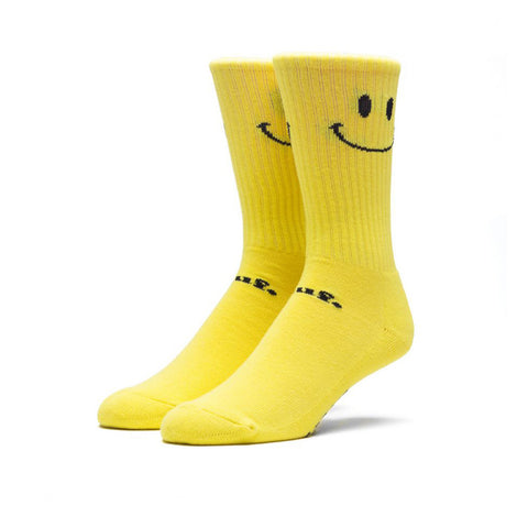 HUF Smiley Crew Socks<p>Yellow