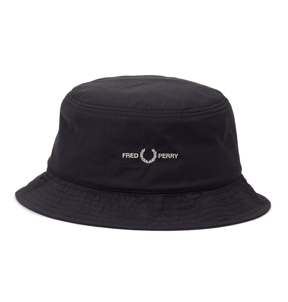 Fred Perry Sports Twill Bucket Hat <p> Black