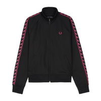 Fred Perry Sports Authentic Taped Track Jacket<p>Black