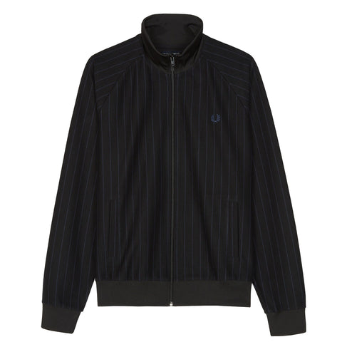 Fred Perry Pinstripe Track Jacket<p>Black