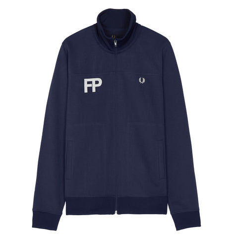 Fred Perry Logo Track Jacket<p>Carbon Blue