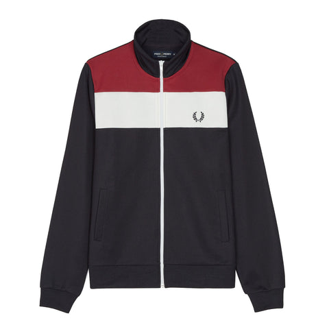 Fred Perry Sports Authentic Colour Block Track Jacket<p>Navy