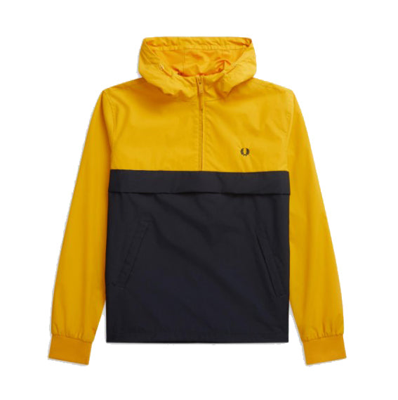 Fred Perry Half Zip Panelled Jacket<p>Bright Amber