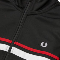 Fred Perry Micro Tape Track Jacket<p>Black