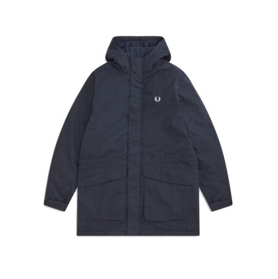 Fred Perry Padded Hooded Jacket<p>Navy