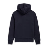 Fred Perry Hooded Zip Through Sweatshirt<p>Navy