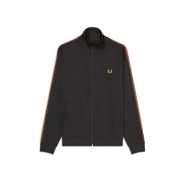 Fred Perry Taped Sleece Track Jacket<p>Black