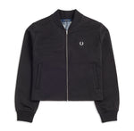 Fred Perry Floral Insert Bomber Jacket <p>Black
