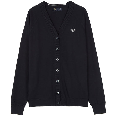 Fred Perry Raglan Cardigan<p>Navy