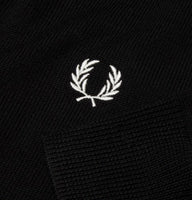 Fred Perry Merino Wool Crew Neck Jumper<p>Black