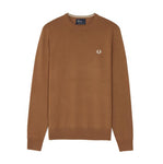 Fred Perry Merino Wool Crew Neck Jumper<p>Dark Caramel