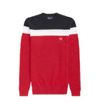 Fred Perry Color Block Crew Neck Jumper<p>Winter Red