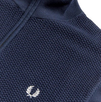 Fred Perry Expanded Pique Knitted Track Jacket<p>Deep Carbon
