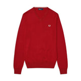 Fred Perry Classic V Neck Jumper<p>Winter Red