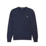 Fred Perry Classic V Neck Jumper<p>Deep Carbon