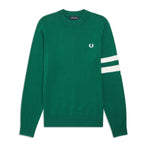 Fred Perry Tipped Sleeve Crew Neck<p>Ivy