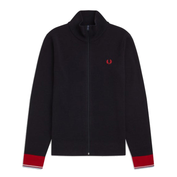 Fred Perry KnittedTrack Jacket<p>Navy