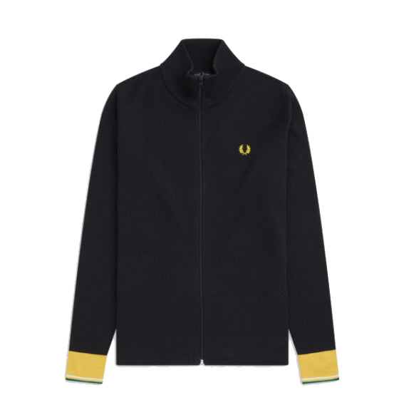 Fred Perry KnittedTrack Jacket<p>Anthracite
