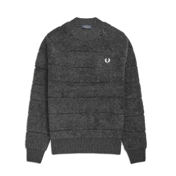 Fred Perry Textured Crew Neck Jumper<p>Anthracite