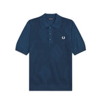 Fred Perry Tonal Argyle Knitted Shirt<p>Insignia Blue