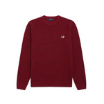 Fred Perry Tonal Argyle Crew Neck Jumper<p>Dark Red