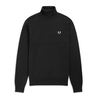 Fred Perry Roll Neck Jumper<p>Black