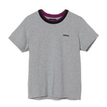 Stüssy <p> Relay Double Rib Tee <p>Grey Heather
