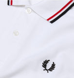 Fred Perry Twin Tipped Piqué Shirt<p>White/Red/Navy
