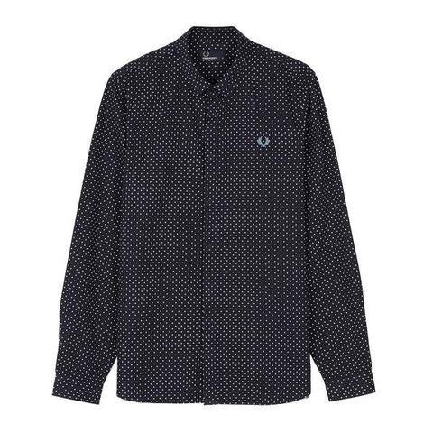 Fred Perry Polka Dot Shirt<p>Navy