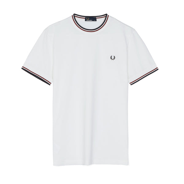 Fred Perry Twin Tipped T-shirt<p>Snow White