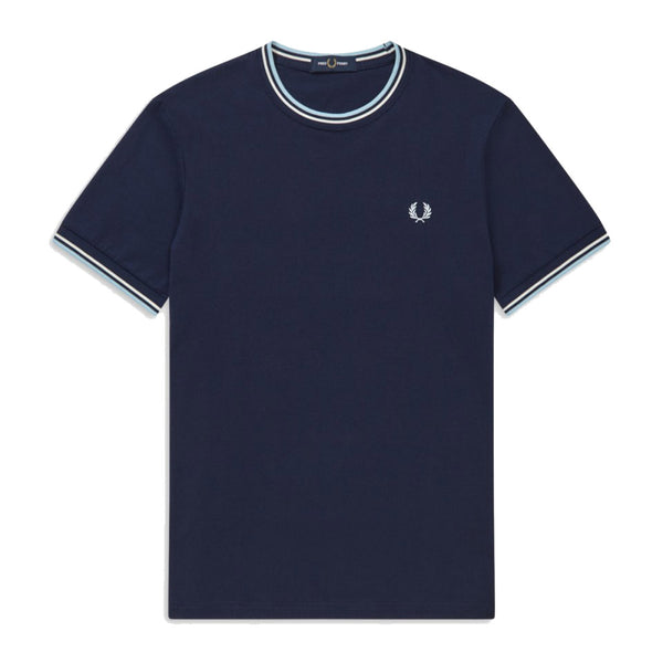 Fred Perry Twin Tiped T-Shirt<p>Carbon Blue