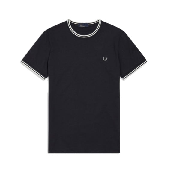 Fred Perry Twin Tiped T-Shirt<p>Navy