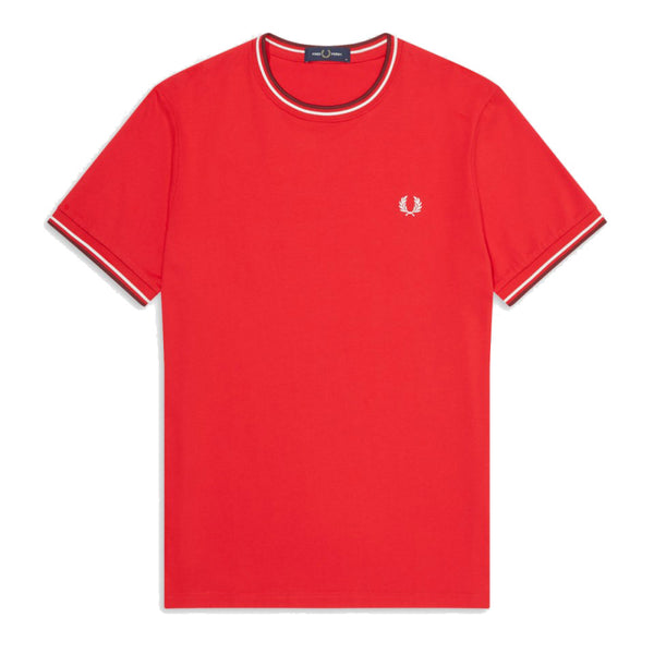 Fred Perry Twin Tiped T-Shirt<p>Jester Red
