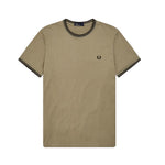 Fred Perry Twin Tiped T-Shirt<p>Sage