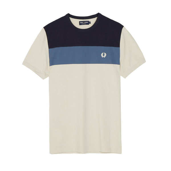 Fred Perry Sports Authentic Colour Block T-Shirt<p>Ivory
