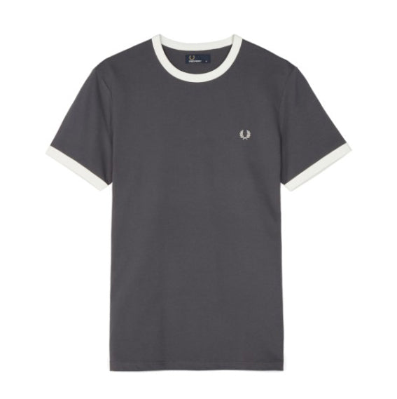 Fred Perry Ringer T-shirt<p>Charcoal