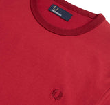 Fred Perry Ringer T-shirt<p>Rich Red