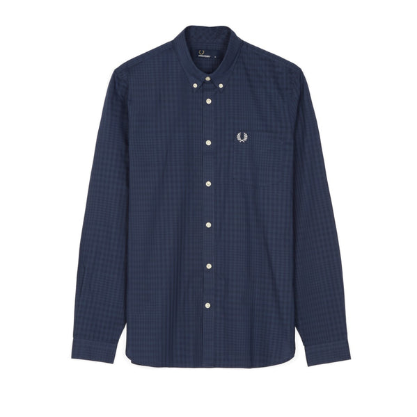 Fred Perry Tonal Gingham Shirt<p>Inky Blue