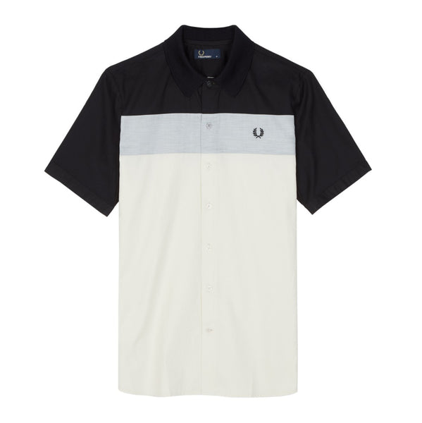 Fred Perry Colour Block Panel Shirt<p>Black