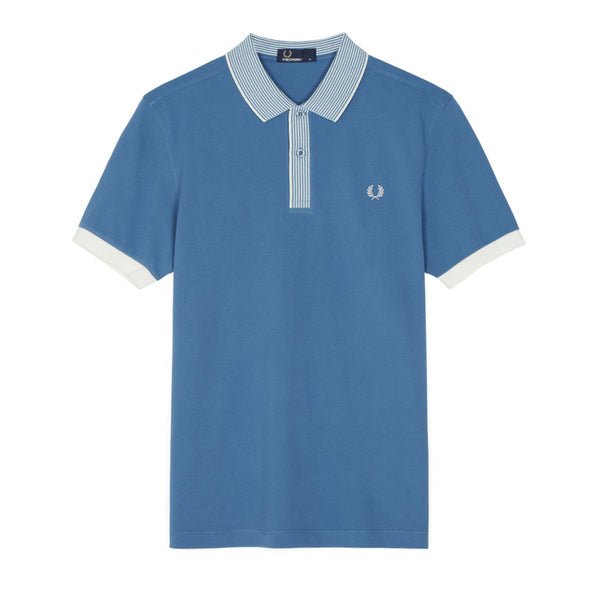 Fred Perry Stripe Collar Piqué Polo Shirt<p>Washed Dusk