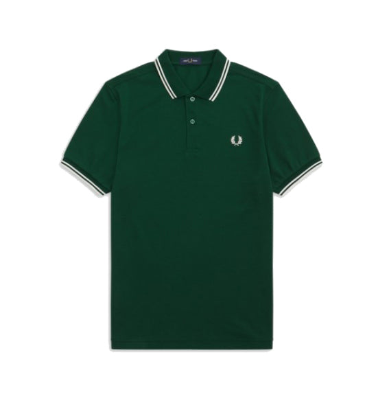 Fred Perry M36 Twin Tipped Polo Shirt <p>Ivy/ Snow White