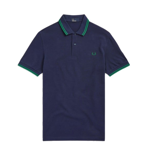Fred Perry Twin Tipped Shirt<p>Carbon Blue /Privet / Privet