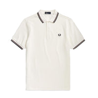 Fred Perry Twin Tipped Shirt<p>Snow White/ Shiraz / Navy