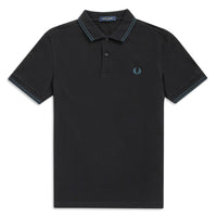 Fred Perry M36 Twin Tipped Polo Shirt <p>Black/ Petrol