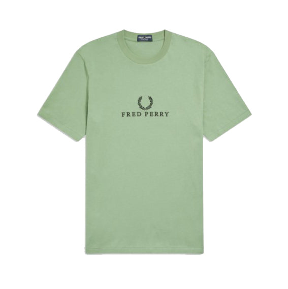 Fred Perry Embroidered T-shirt<p> Pistachio