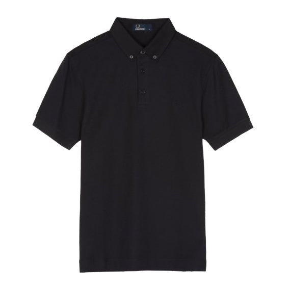 Fred Perry Oxford Trim Piqué Polo Shirt<p>Black