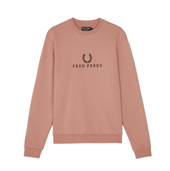 Fred Perry Embroidered Sweatshirt<p>Grey Pink