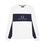 Fred Perry Piped Sweatshirt<p>White