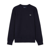 Fred Perry Piqué Crew Neck Sweatshirt<p>Navy